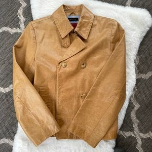 Cole Haan tan/camel leather jacket